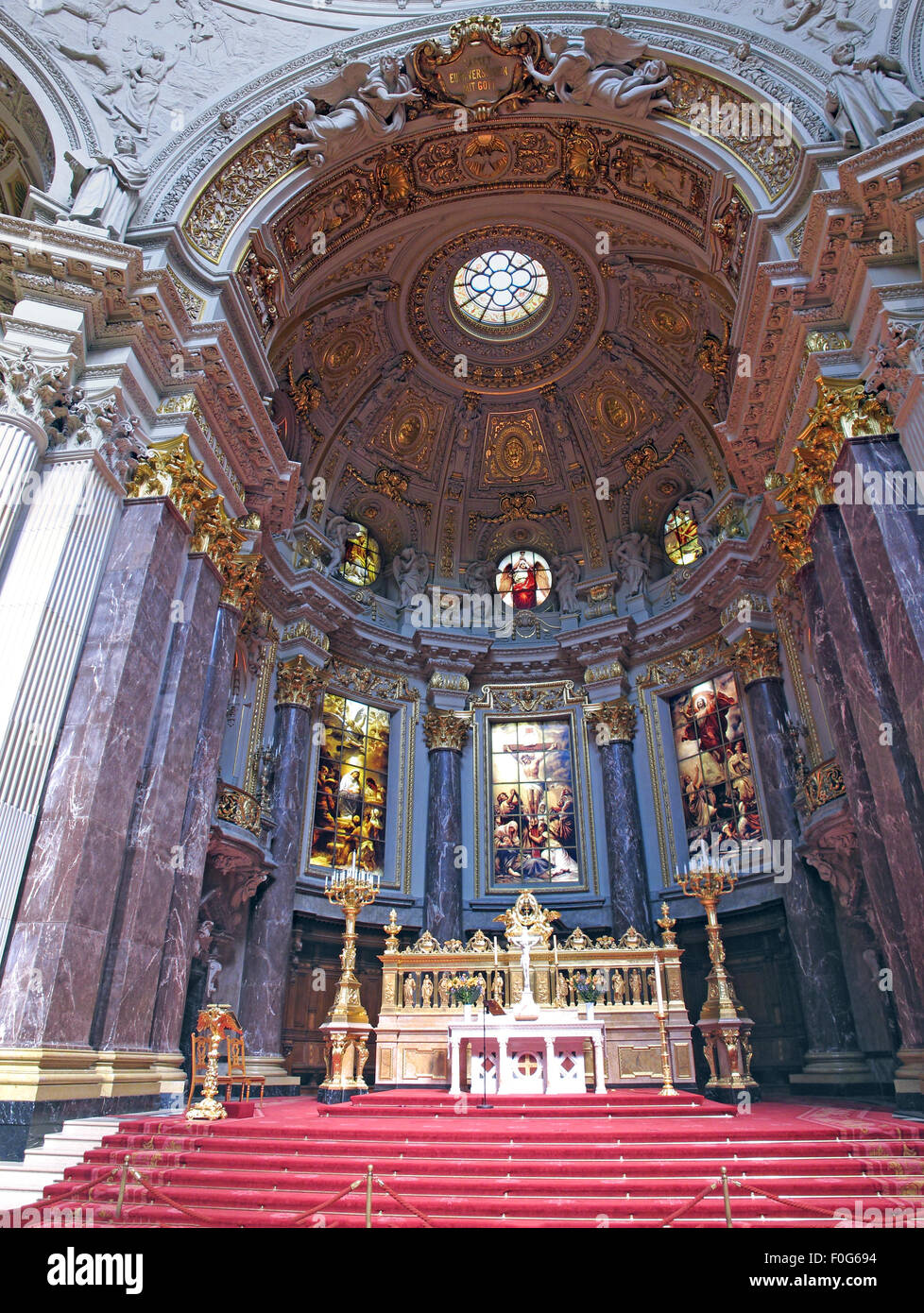 Berlin Cathedral, Berliner Dom,altar,wide shot - Stock Image