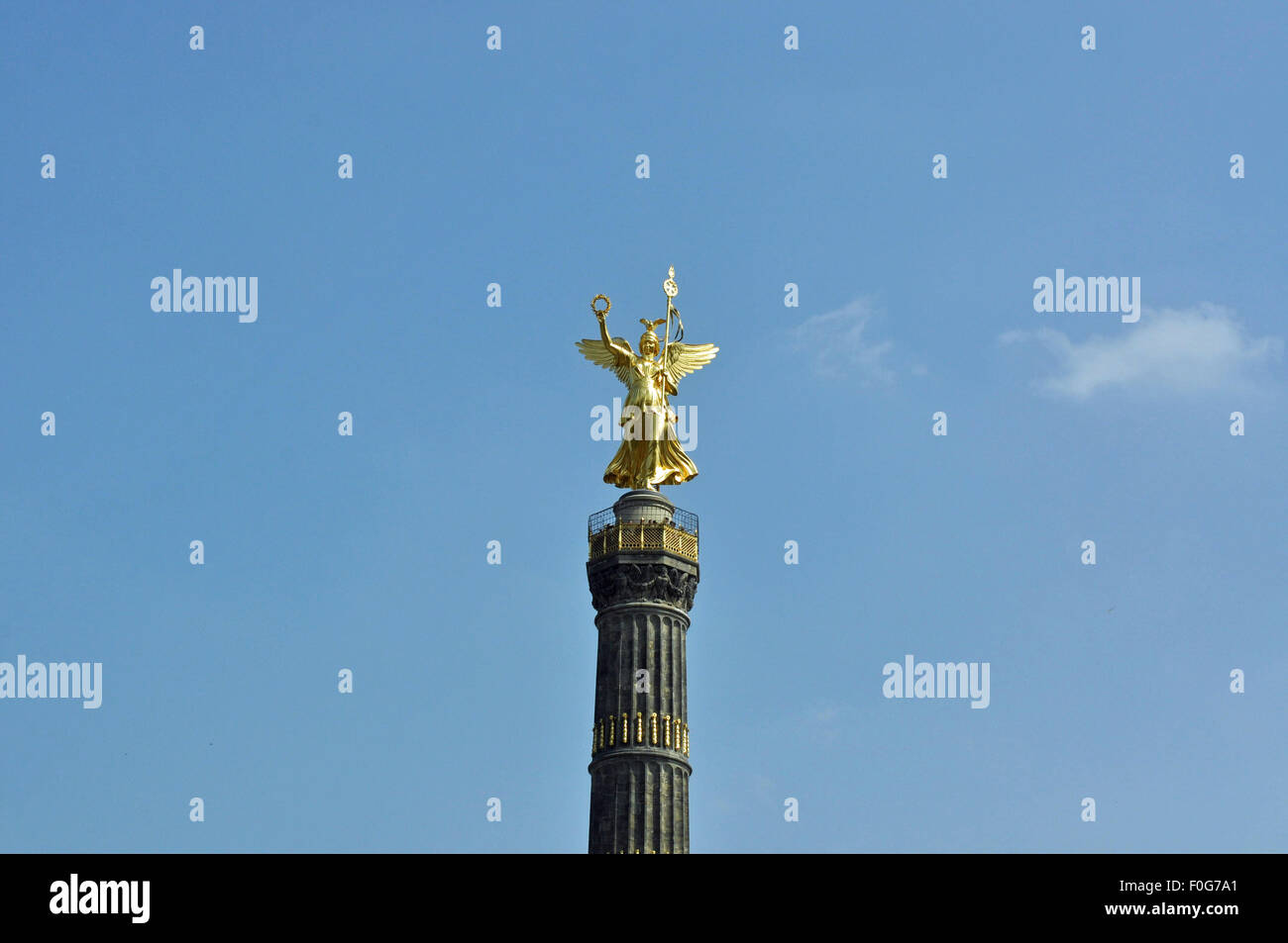 Column of victory, Siegessäule, Goldelse, Berlin, Germany, famous tourist attraction, City of Berlin - Stock Image