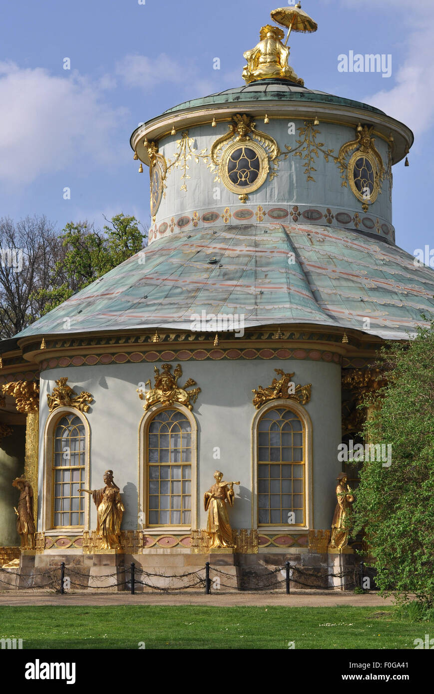 Chinese House, Potsdam Sanssouci, 18th century, Brandenburg, Germany - Stock Image