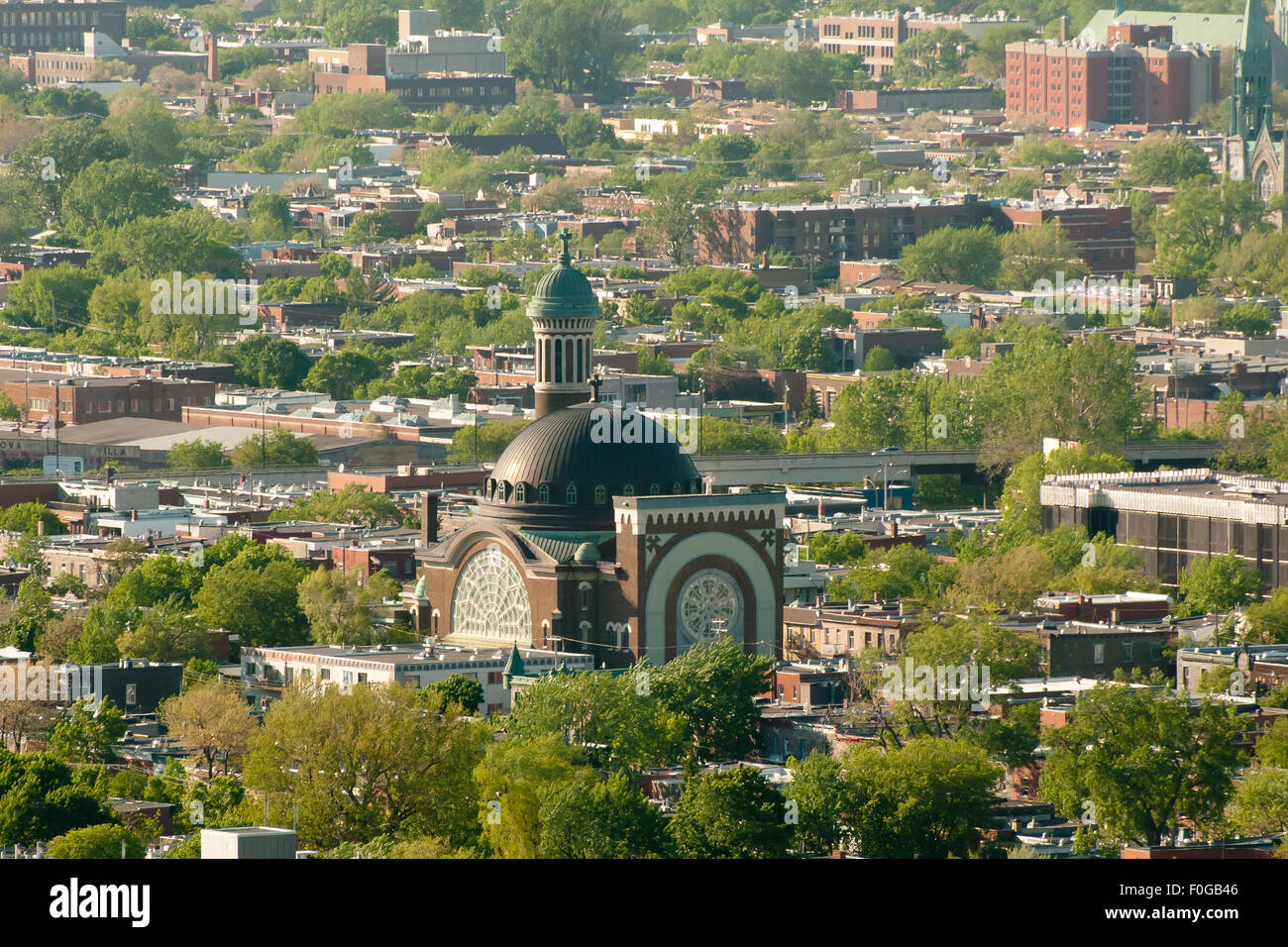 St Michael & St Anthony Church - Montreal - Canada - Stock Image