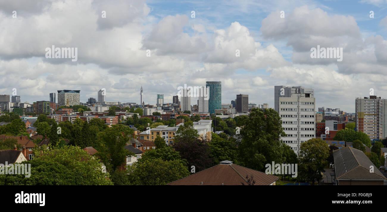 The skyline of Birmingham city centre UK - Stock Image