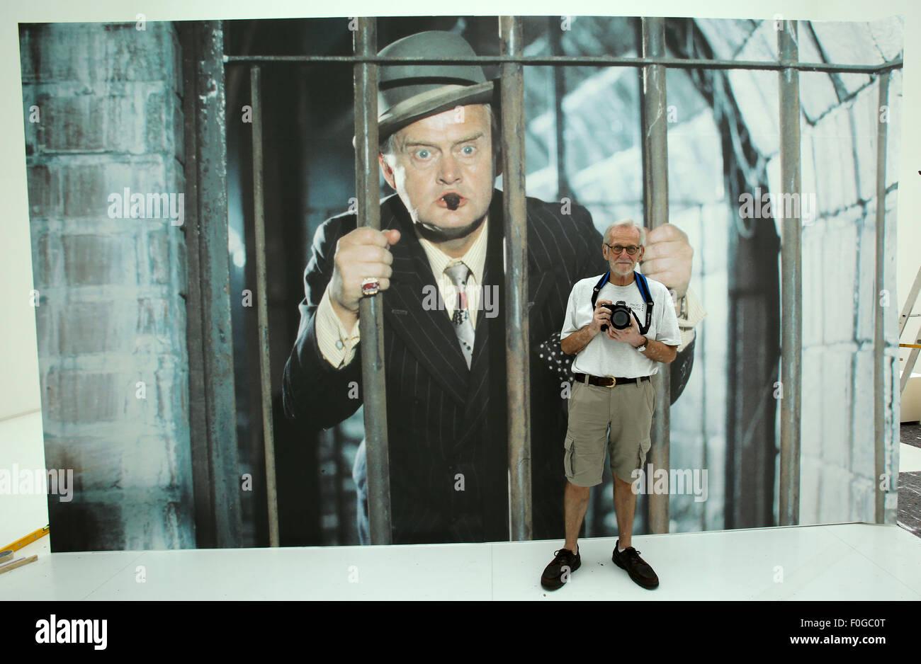 Rostock, Germany. 12th Aug, 2015. Danish photographer Rolf Konow, who was the set photographer of the Olsen Gang - Stock Image