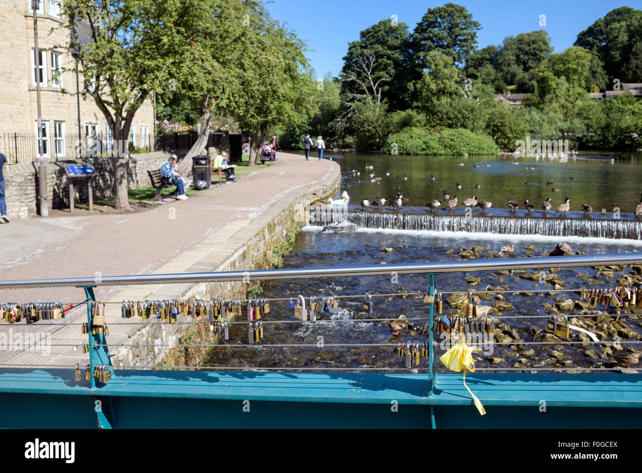 Bakewell And The River Wye Derbyshire,UK. - Stock Image