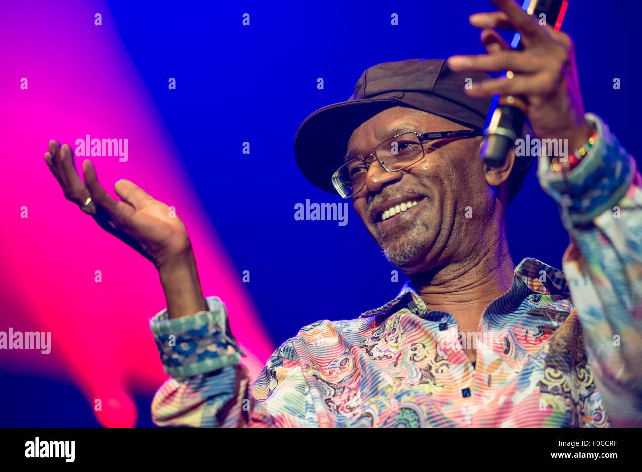 MONTREAL, CANADA, 14th August 2015. Beres Hammond performs live at the Montreal International Reggae Festival. Credit: - Stock Image