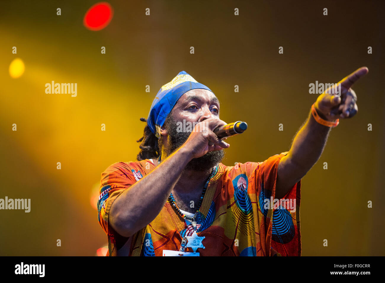 MONTREAL, CANADA, 14th August 2015. Mello G performs live at the Montreal International Reggae Festival. Credit: - Stock Image