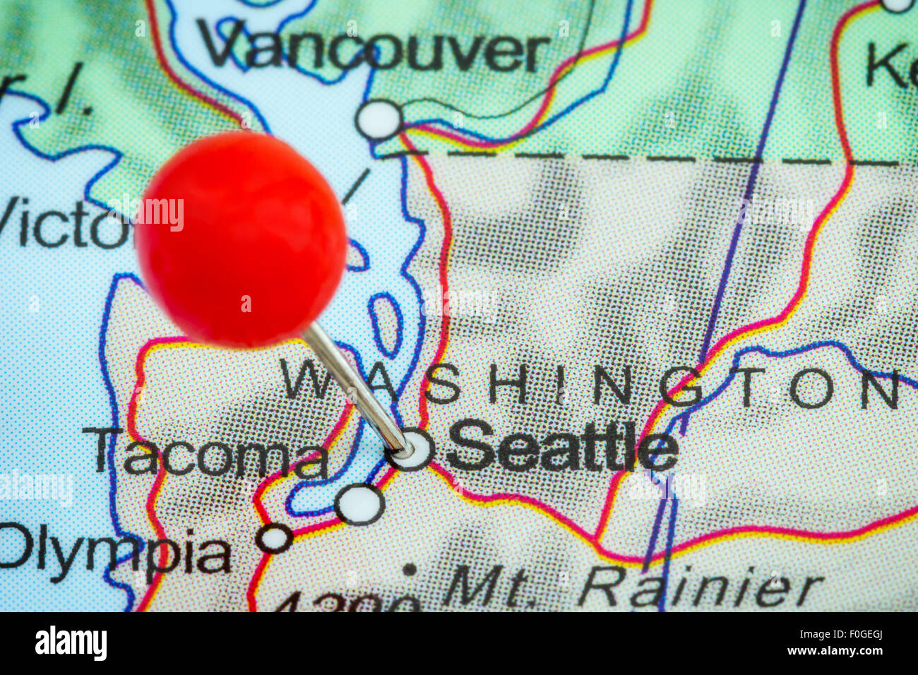 Close-up of a red pushpin on a map of Seattle, USA Stock ... on seattle income map, seattle road map, seattle on washington, seattle washington location, seattle washington attractions map, south seattle map, seattle city on a map of the us, seattle on texas map, seattle tourist map, seattle wa, seattle visitors guide map, seattle vancouver victoria map, seattle space needle map, seattle state map, london tube map, seattle area map, seattle subway map, seattle to new york city map, seattle on world map, seattle on map of north america,