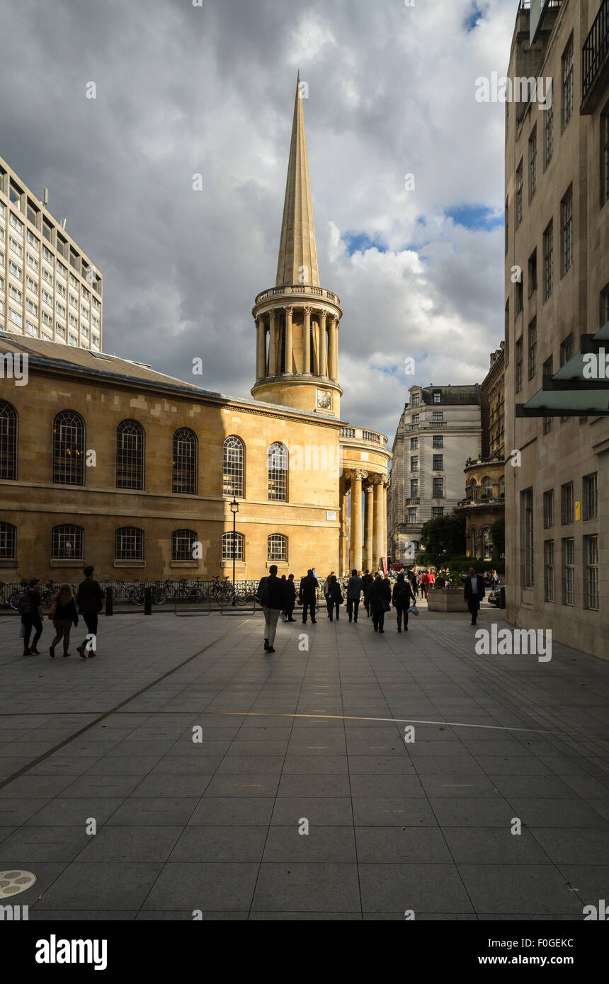 All Souls Church, Langham Place, London, England, UK. - Stock Image