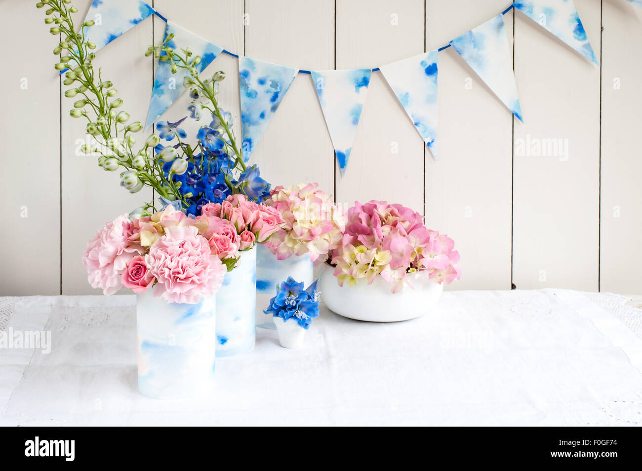 Pink And Blue Hydrangea Stock Photos Pink And Blue Hydrangea Stock
