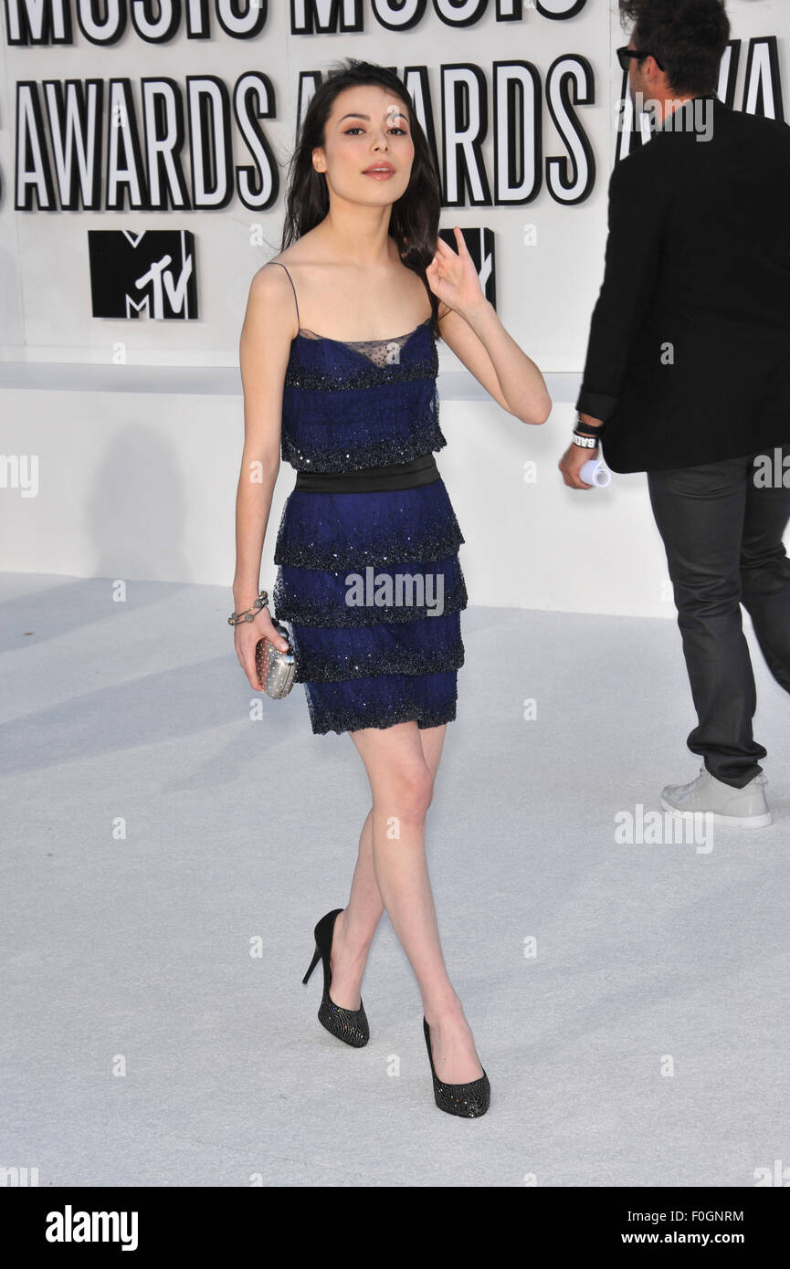 LOS ANGELES, CA - SEPTEMBER 12, 2010: Miranda Cosgrove at the 2010 MTV Video Music Awards at the Nokia Theatre L.A. - Stock Image