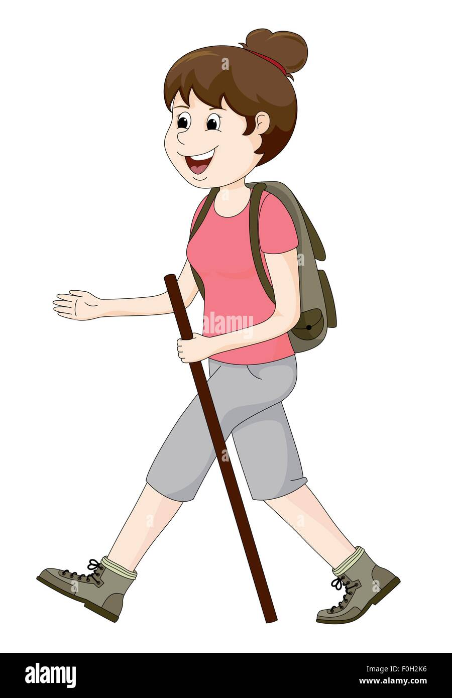 Woman hiking - Stock Image