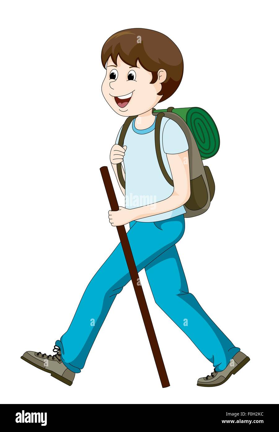 man hiking - Stock Image
