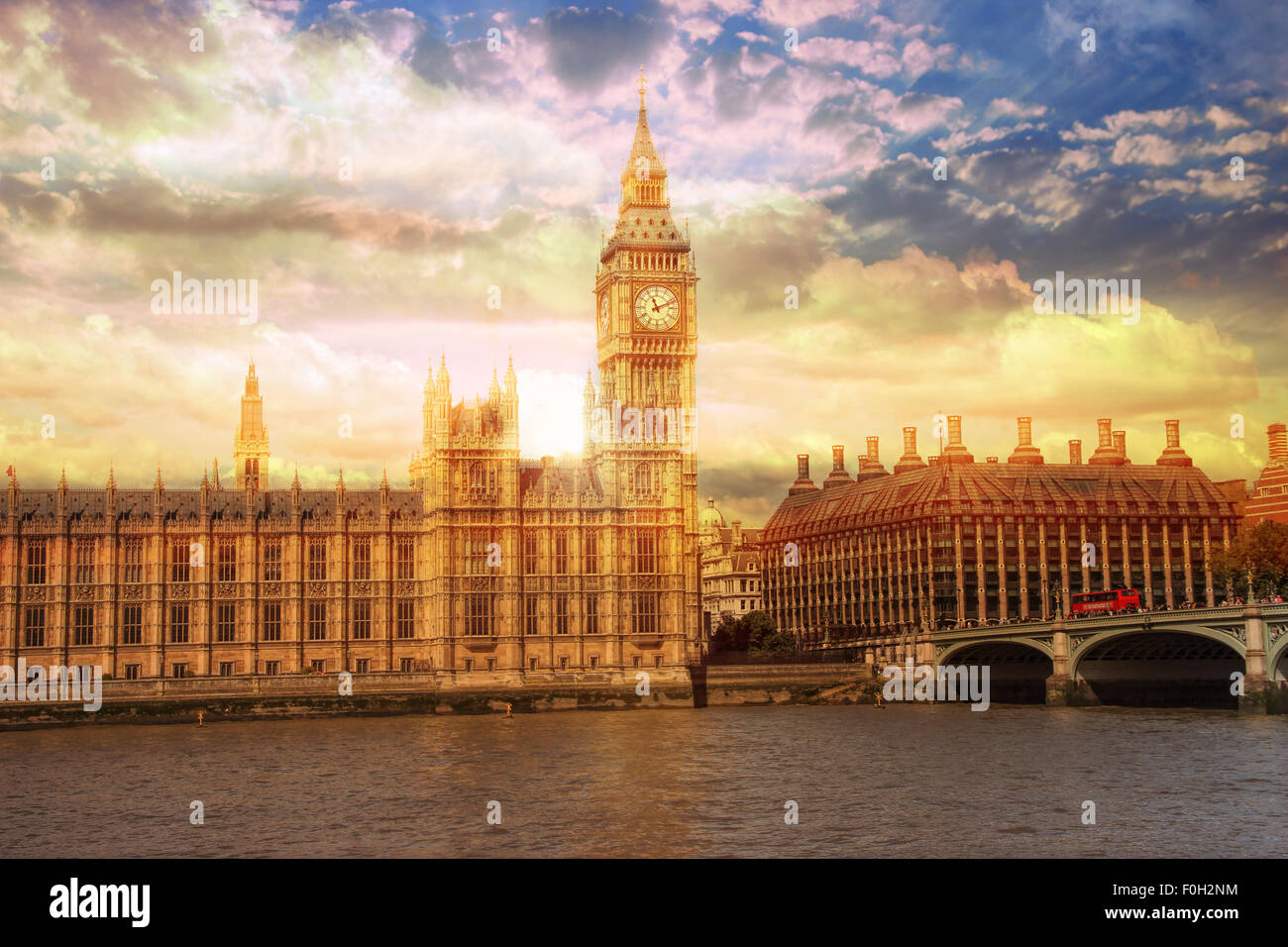 Big Ben in Westminster Palace,London - Stock Image