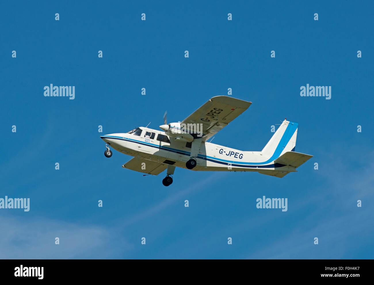 Britten-Norman BN-2A-20 Islander (G-JEPG), Inverness Scotland.    SCO 10,019. - Stock Image