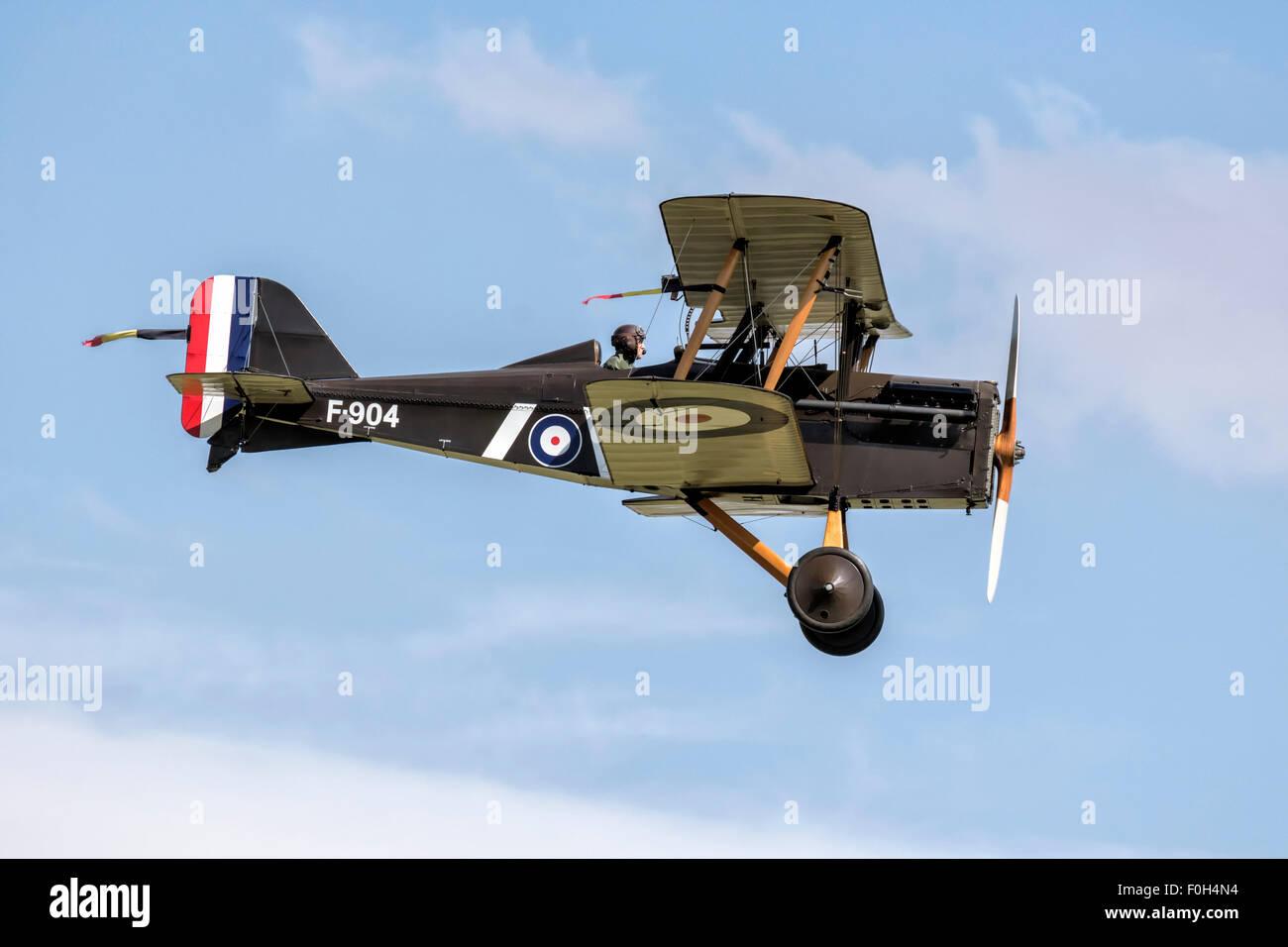 RAF SE5a World War One fighter bi plane - Stock Image