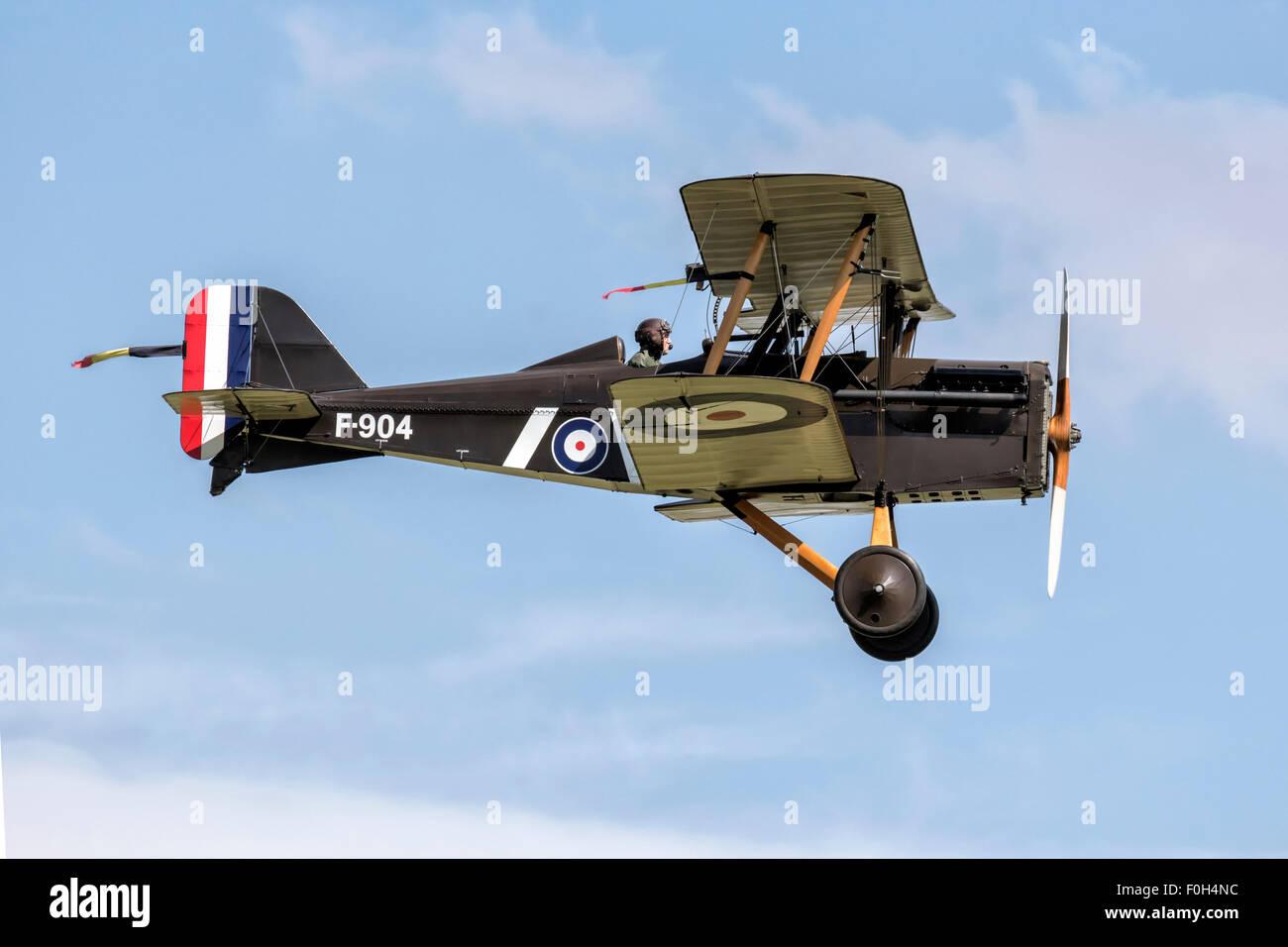 RAF SE5a World War One fighter bi plane Stock Photo