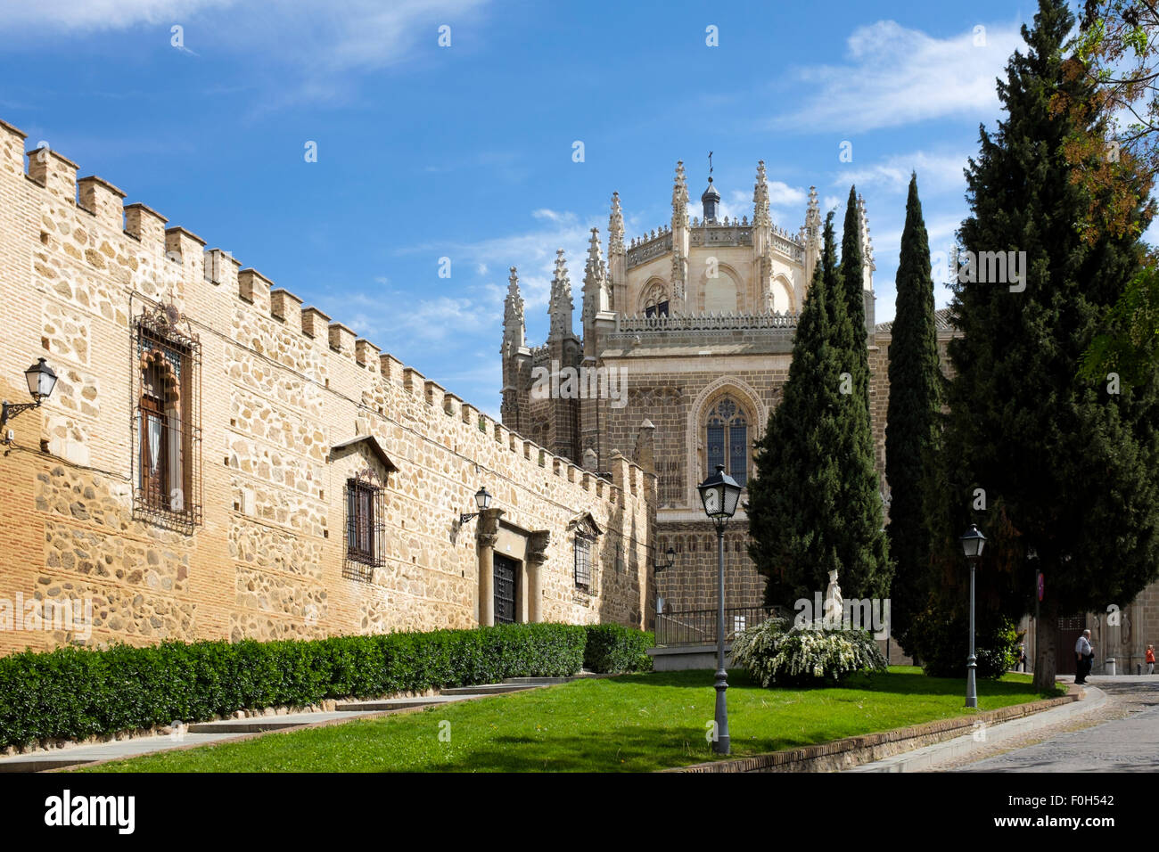 Exterior view of the Monastery of  San Juan de los Reyes, Toledo, Spain. - Stock Image