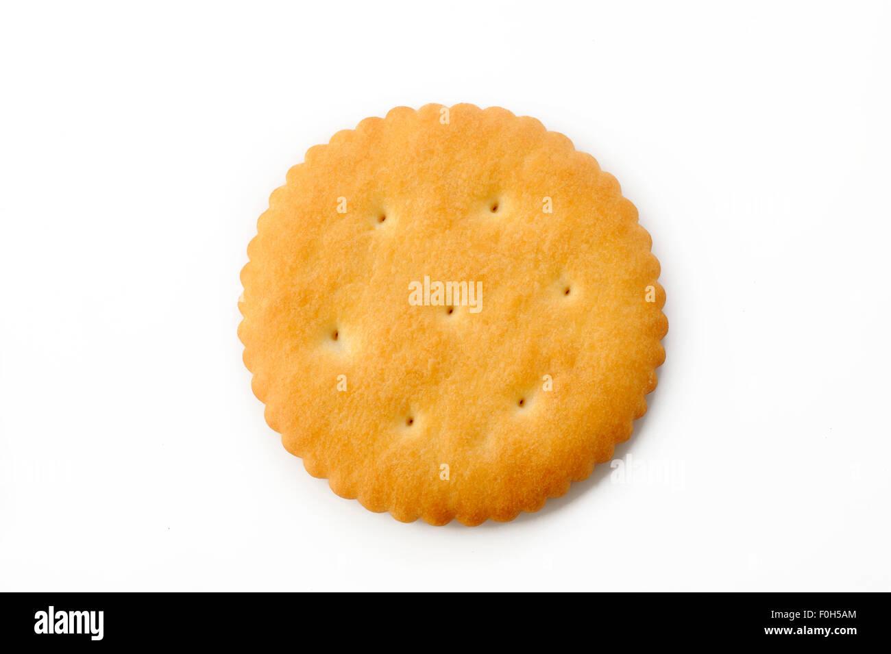 Cracker on white background - Stock Image