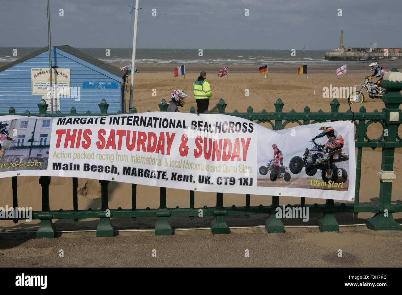 Alternative uses of beach: beachcross, a motorcycle race - Stock Image