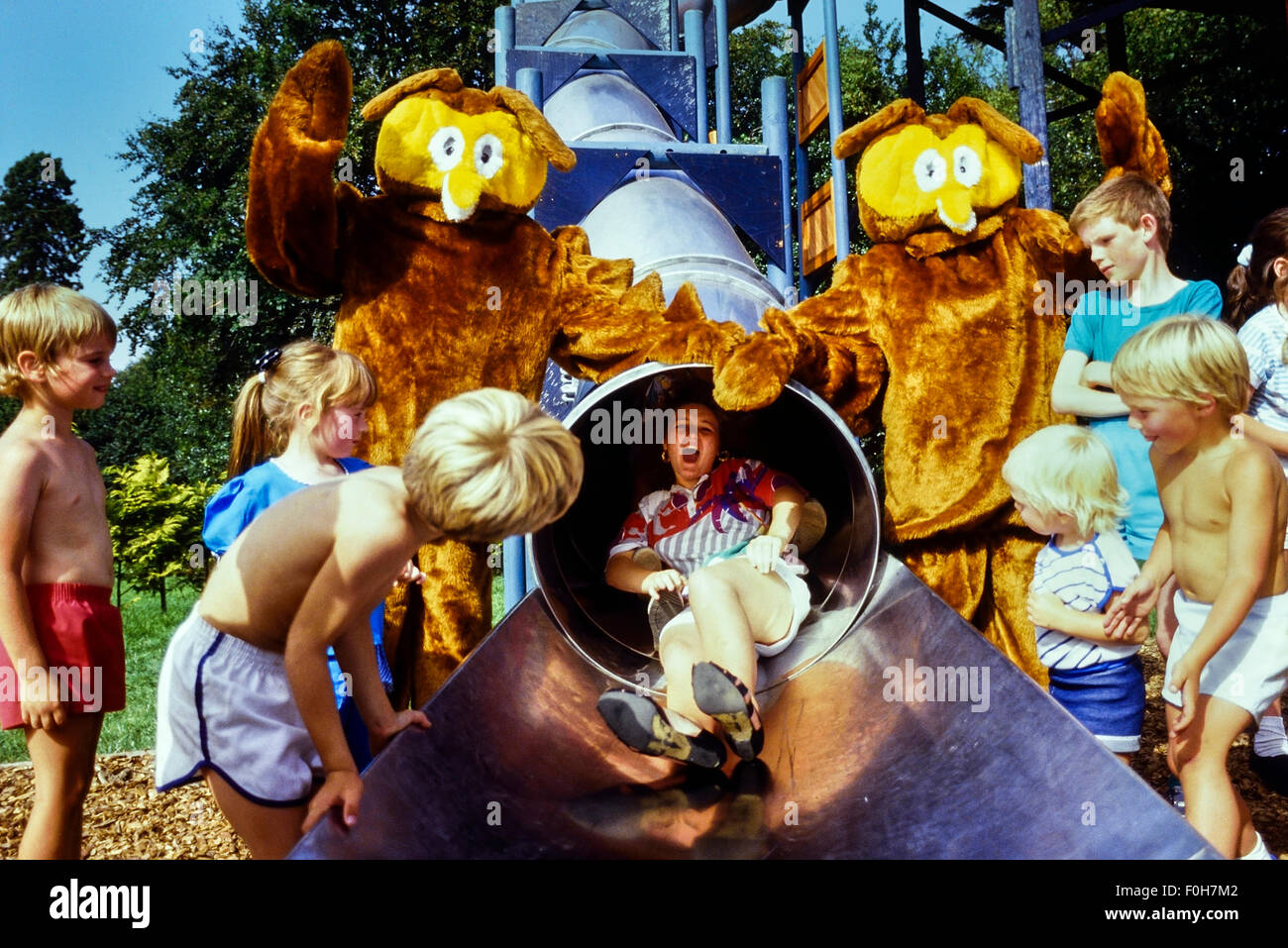Paultons Family Theme Park. Ower, Romsey. Hampshire, England, UK,  Circa 1980's - Stock Image
