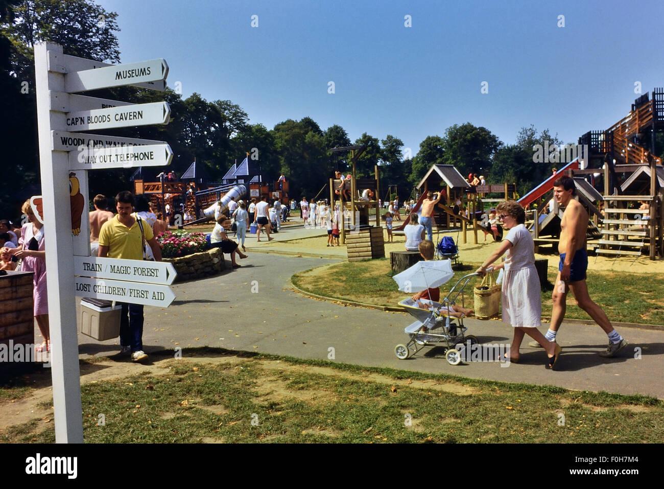 Paultons Family Theme Park. Ower, Romsey. Hampshire Circa 1980's - Stock Image