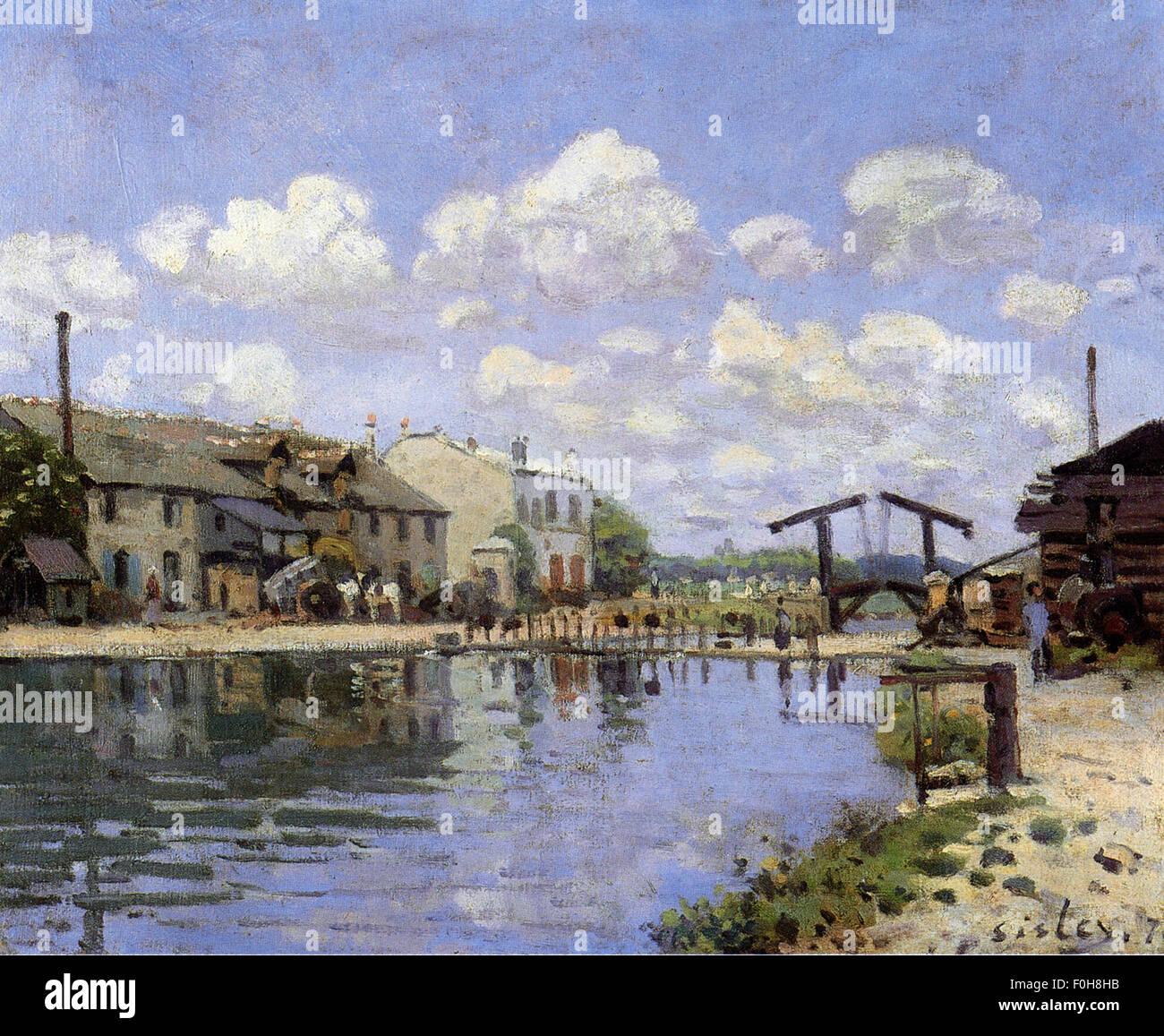 Alfred Sisley - Le Canal Saint Martin - Stock Image