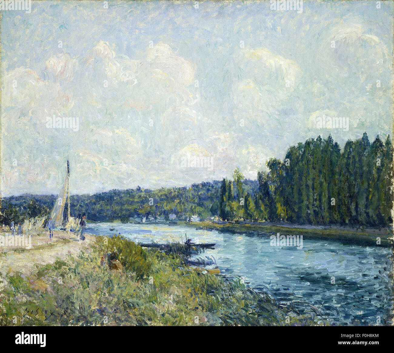 Alfred Sisley - The Banks of the Oise - Stock Image