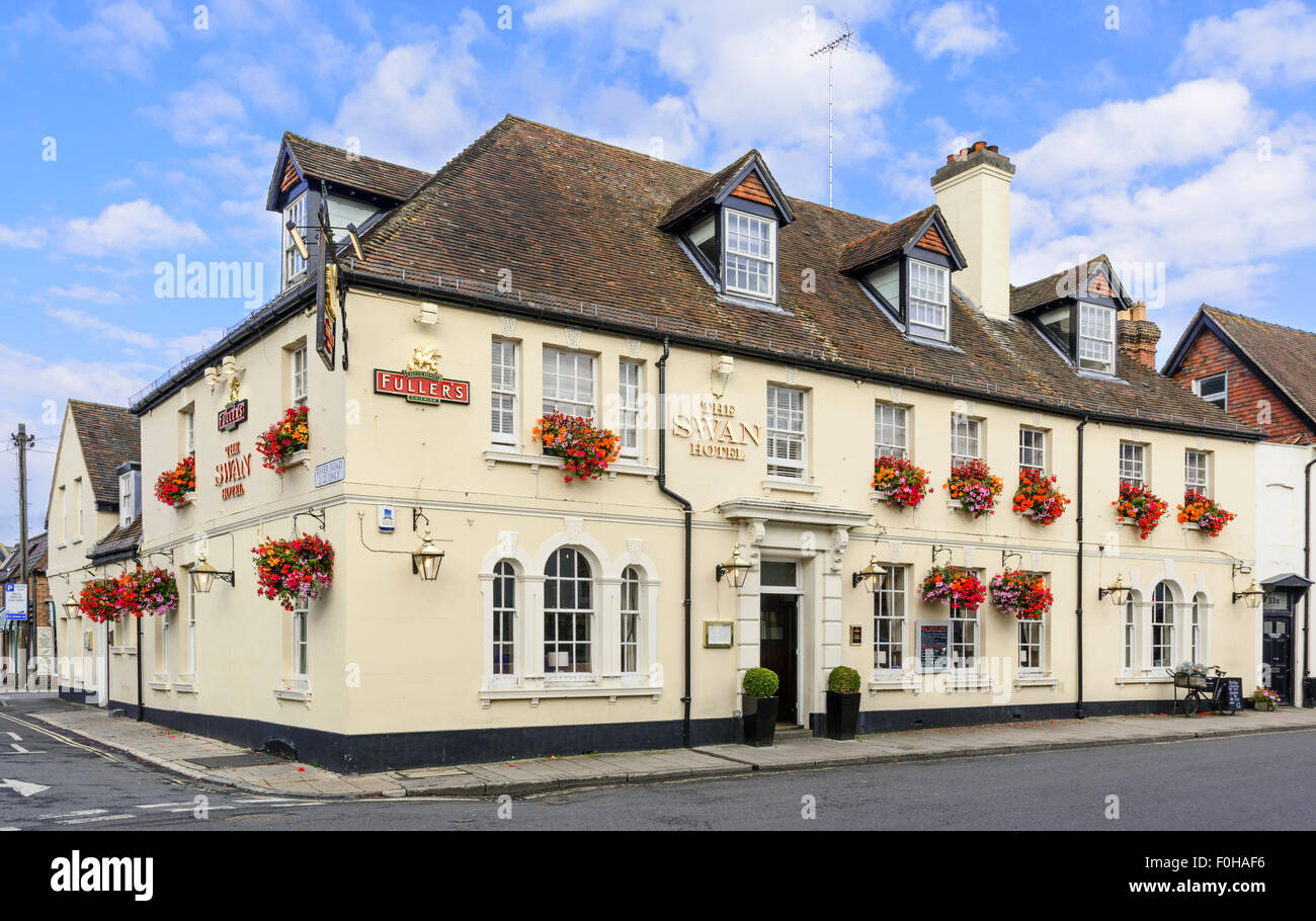 The Swan Hotel and pub in Arundel, West Sussex, England, UK. - Stock Image