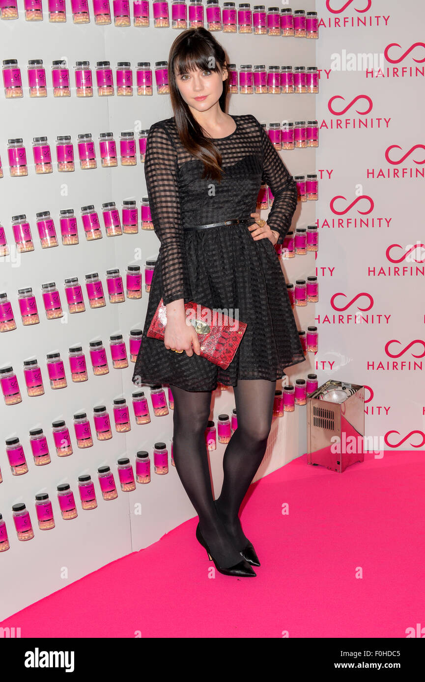 UK model Lilah Parsons at red carpet event in London. - Stock Image