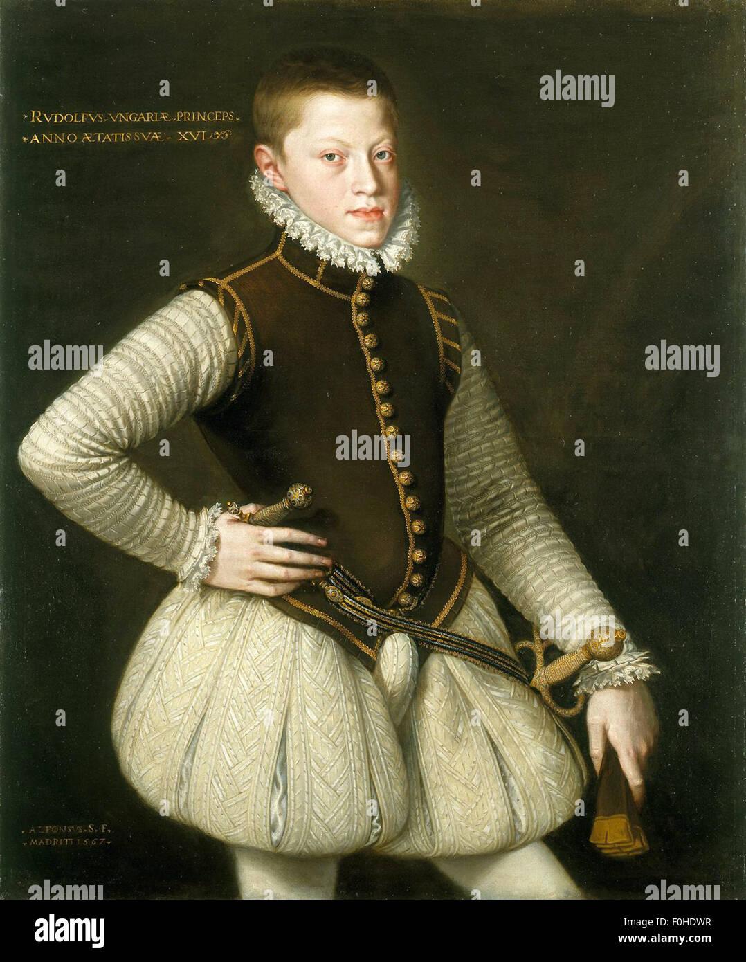 Alonso Sánchez Coello - Rudolf II, Emperor of Austria - Stock Image