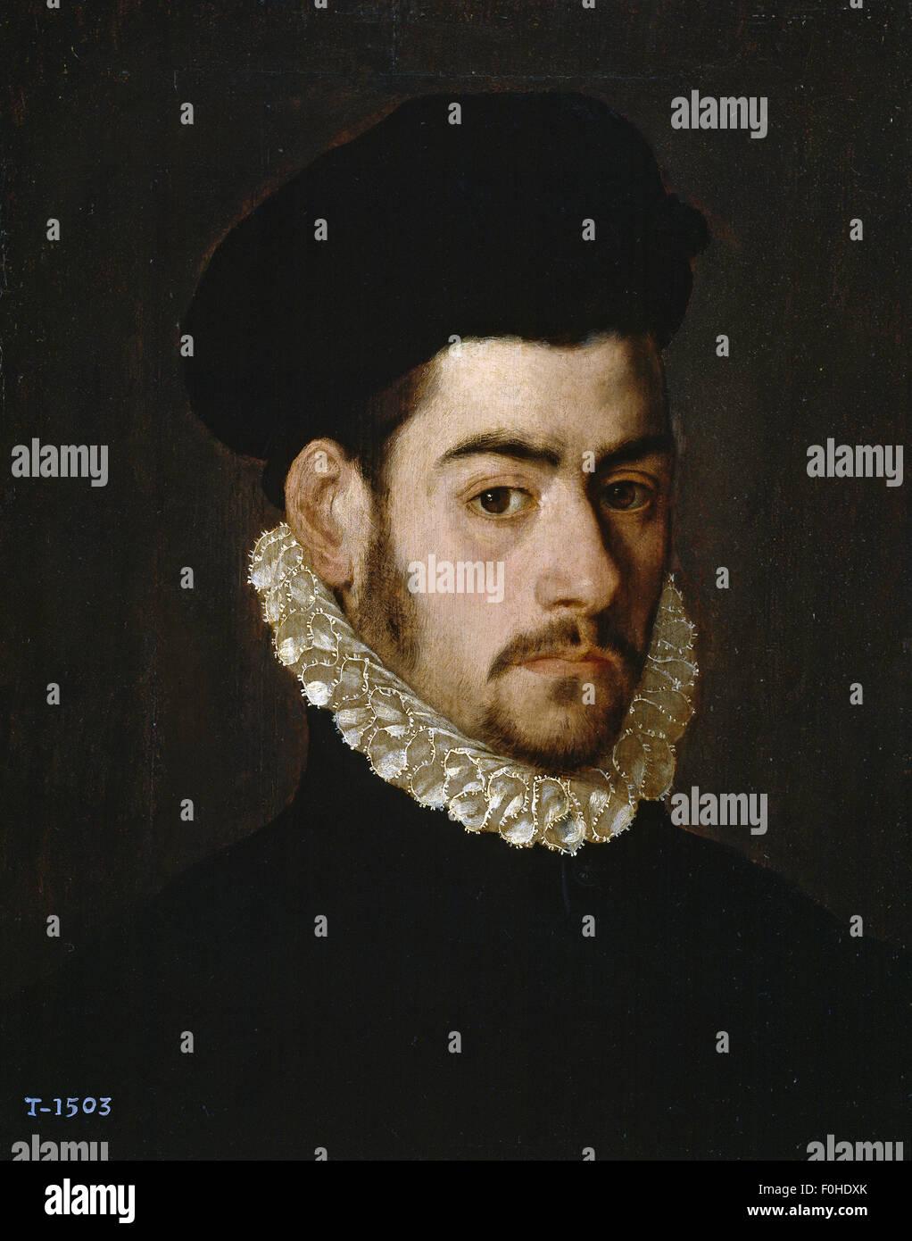 Alonso Sánchez Coello - Self portrait - Stock Image