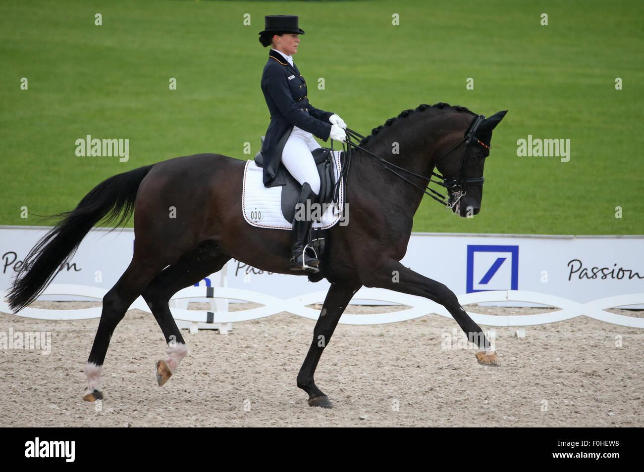 Kristina Broering Sprehe Of Germany Rides Her Horse Desperados In The Stock Photo Alamy