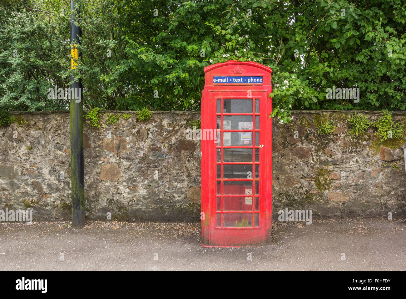PHONE BOX, INVERARAY, SCOTLAND, CIRCA JUNE 2014. A typical phone box in Scotland. - Stock Image