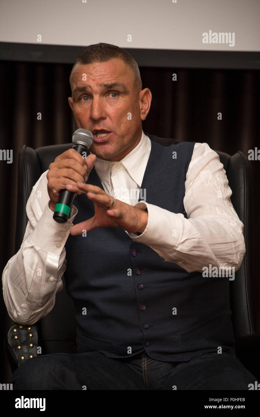Ex footballer, now actor, Vinnie Jones at An Audience With Vinnie Jones in Essex, 2015. - Stock Image