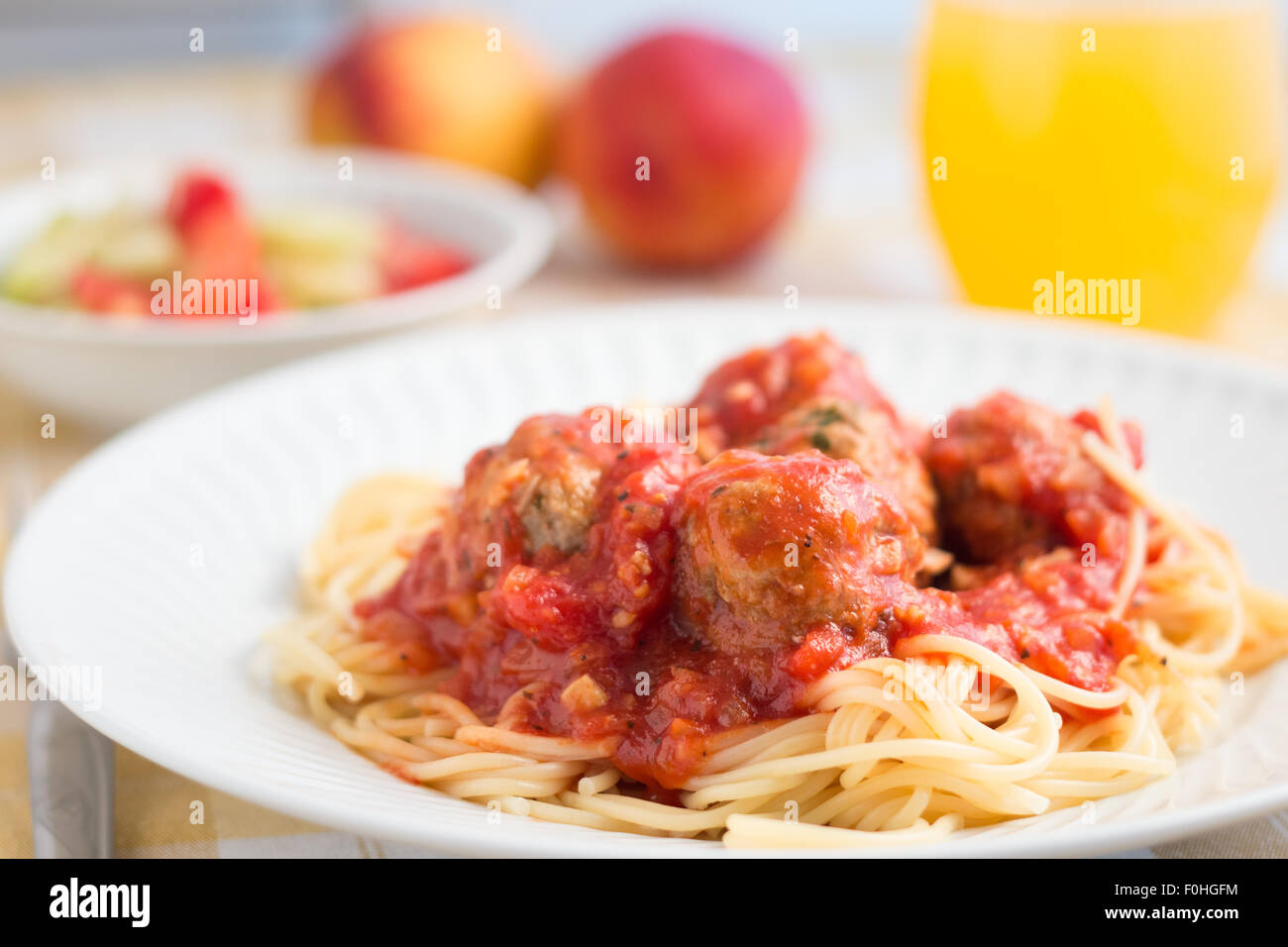 Bolognese Meat Balls - Stock Image