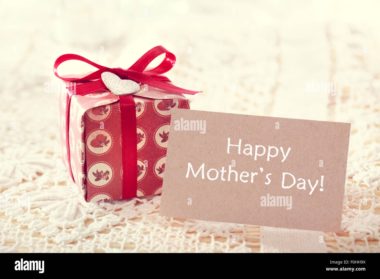 Happy Mothers Day Message Written On A Card With A Hand Crafted