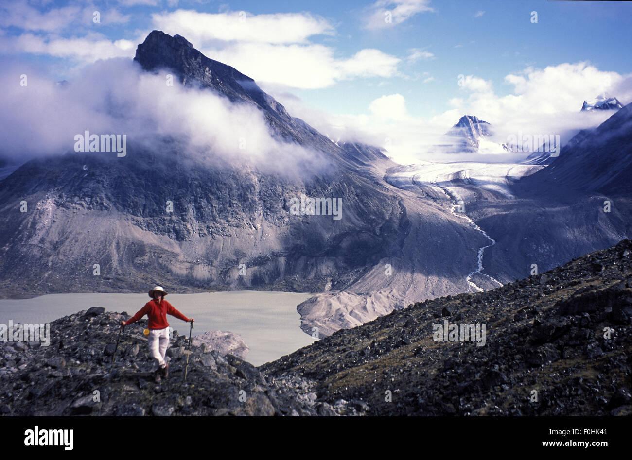 Backpacking on Baffin Island - Stock Image