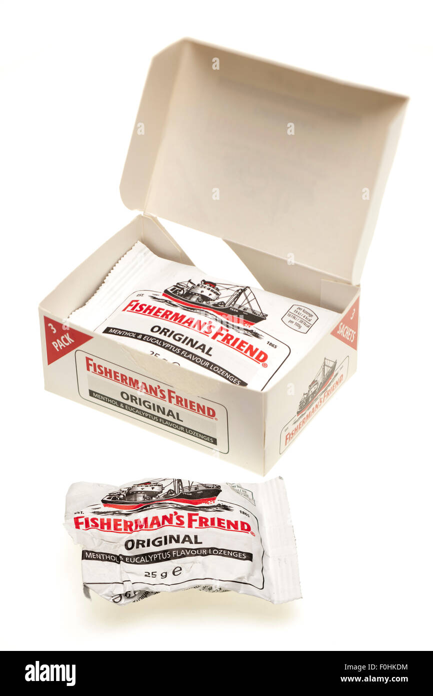 Fisherman's Friend original lozenges box Pack three - Stock Image