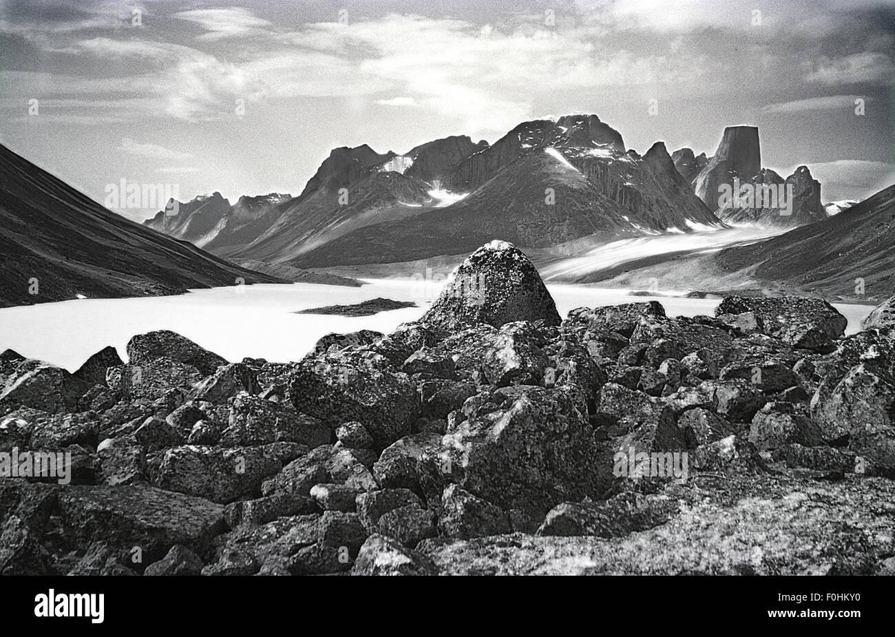 View of Mt. Asgard - Stock Image