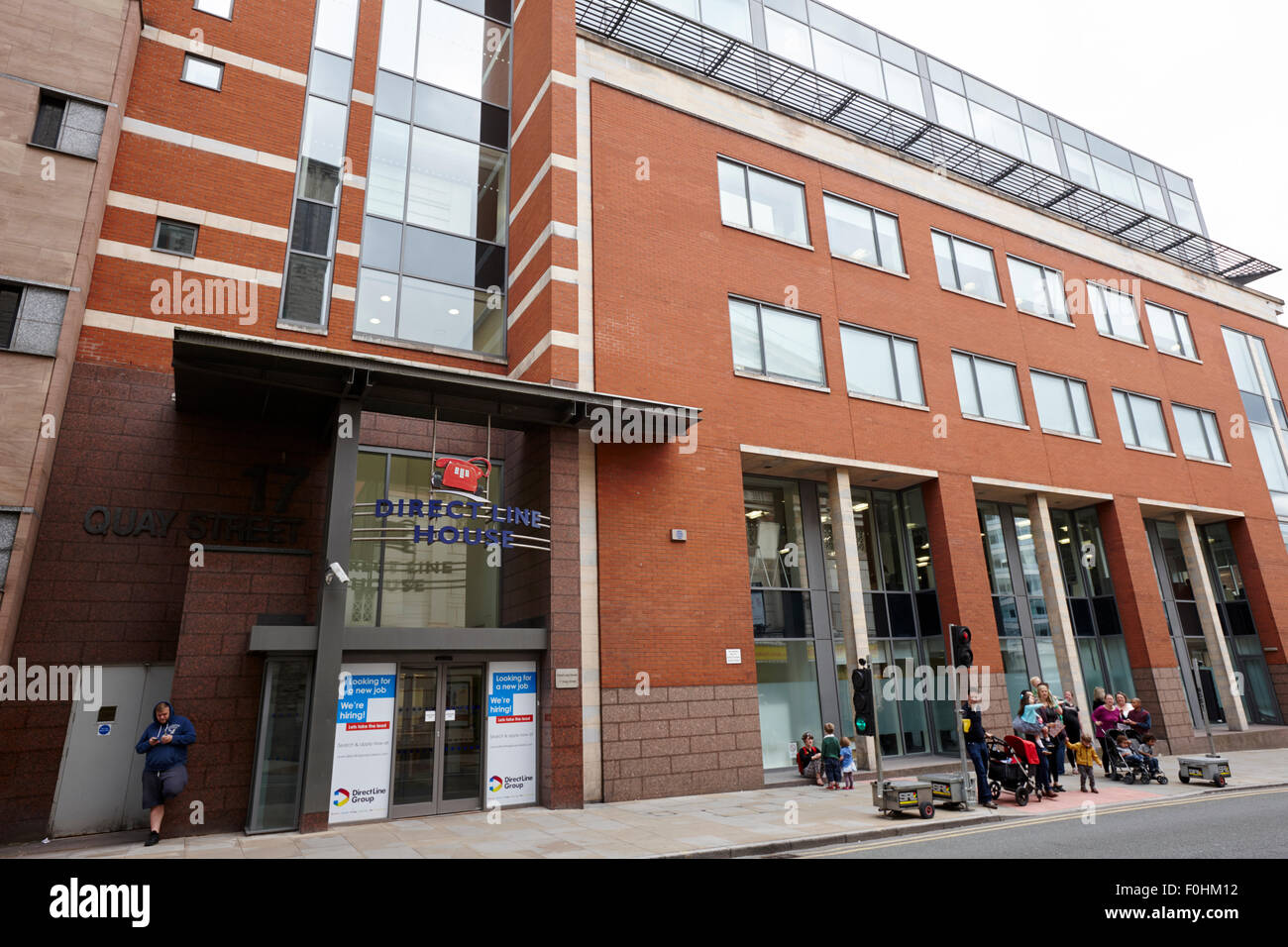 direct line house insurance offices Manchester England UK - Stock Image