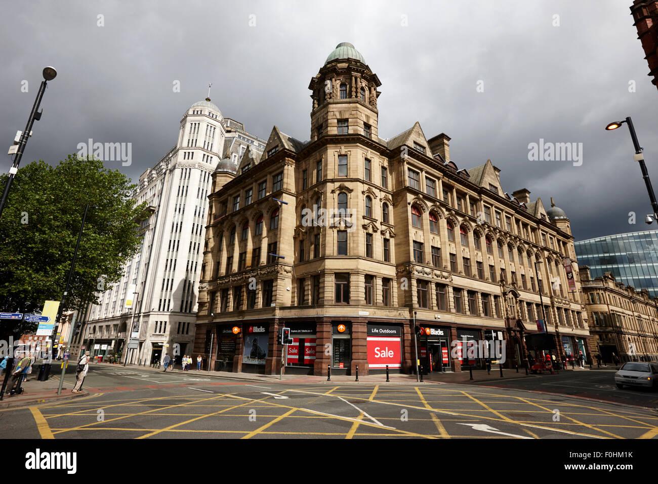 landmark buildings on 196 deansgate main thoroughfare Manchester city centre  England UK - Stock Image