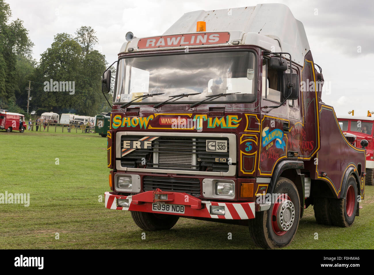 ERF E10 showmans lorry in a moving display at weald and downland museum in west sussex. - Stock Image