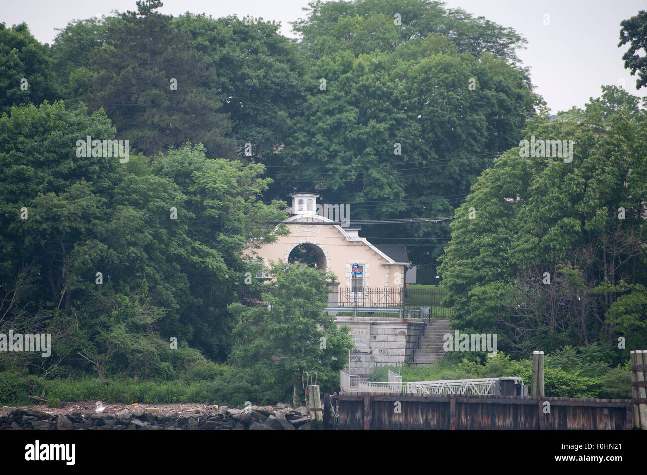 Sailors Snug Harbor, an 83-acre park on Staten Island, was once a home for aged sailors and is now an arts center. - Stock Image