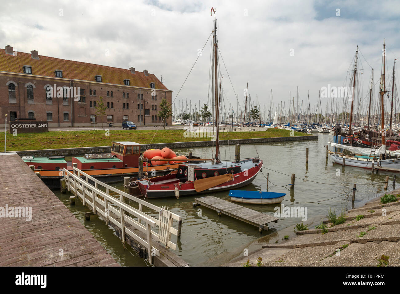 Former prison complex 'Krententuin'' on Oostereiland, an artificial island, in Hoorn ( Horn ), North - Stock Image