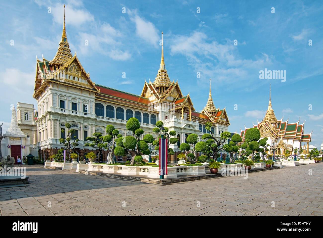 Royal grand palace in Bangkok, Asia Thailand Stock Photo