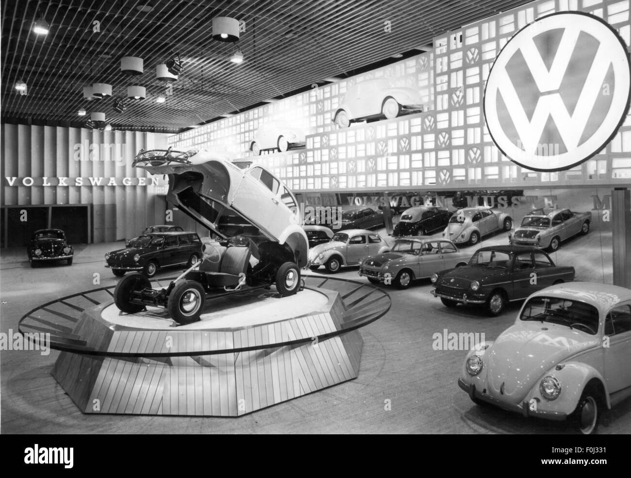 transport / transportation, motor shows, Frankfurt Motor Show (IAA), Volkswagen booth, hall 9, fairground, Frankfurt, - Stock Image