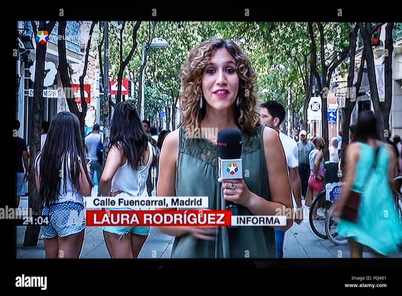 Madrid Spain Europe Spanish television TV screen media news