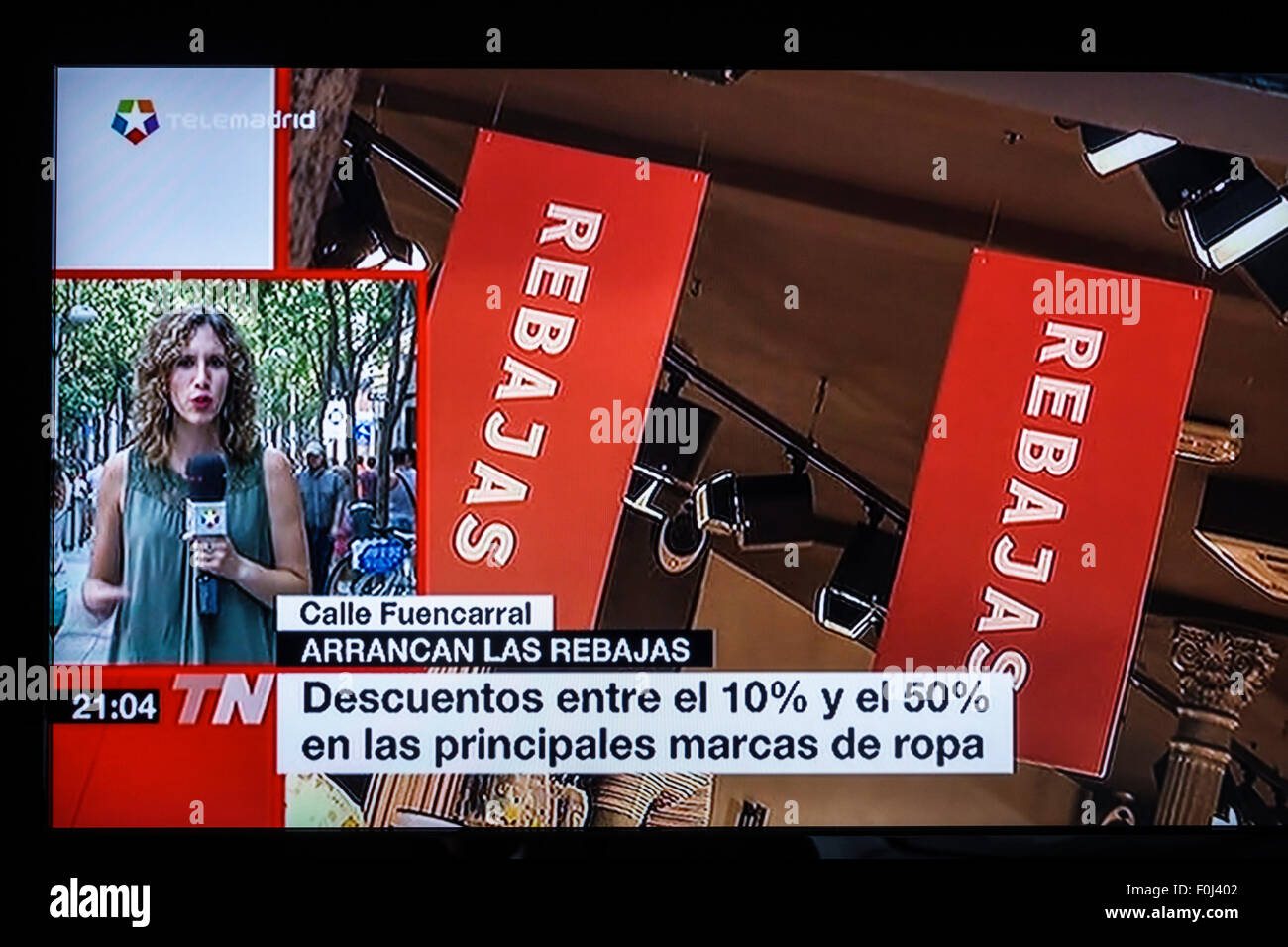 Madrid Spain Europe Spanish television TV screen media news