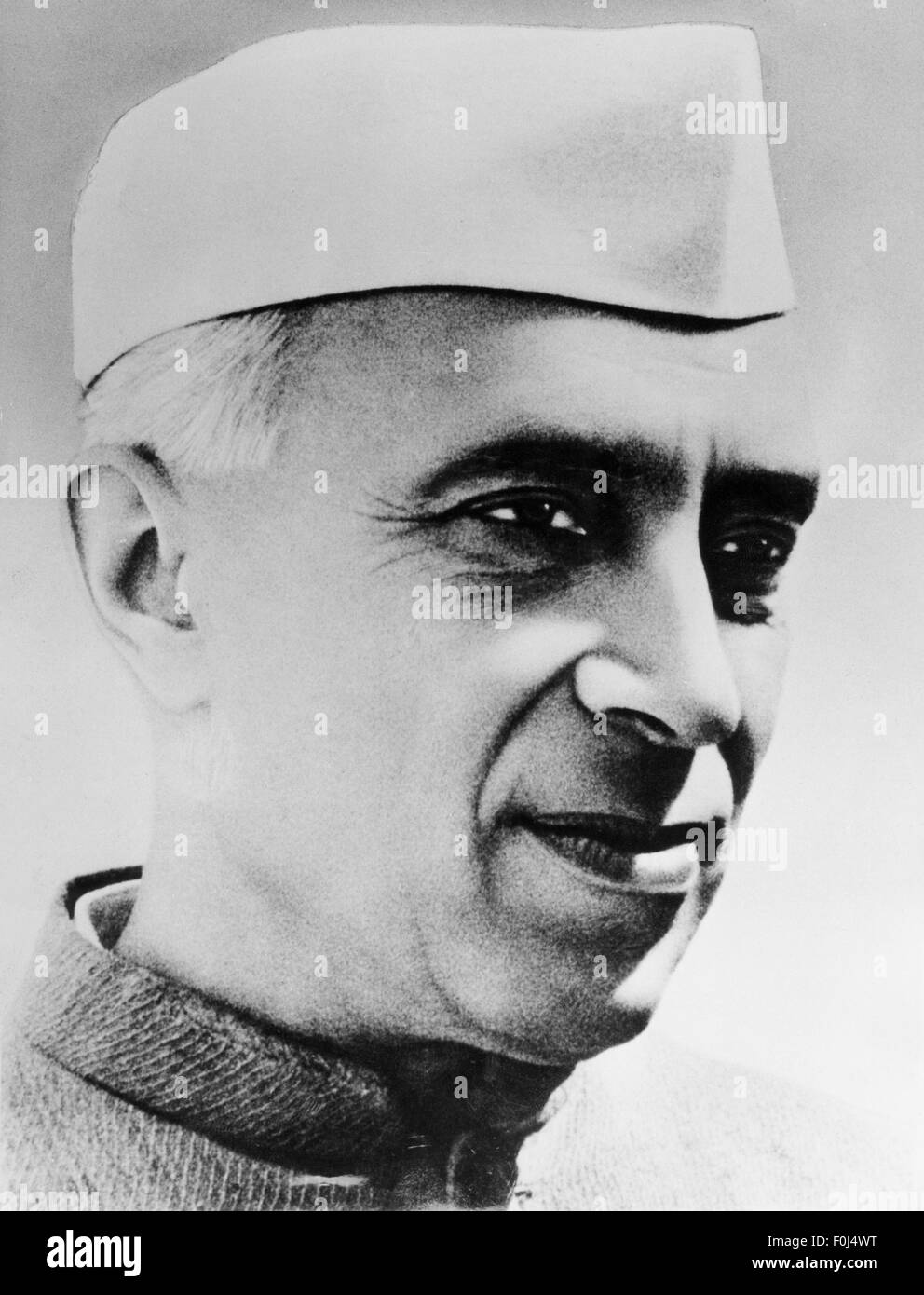 Nehru, Jawaharlal 'Pandit', 14.11.1889 - 27.5.1964, Indian politician, portrait, 1950s, Additional-Rights - Stock Image