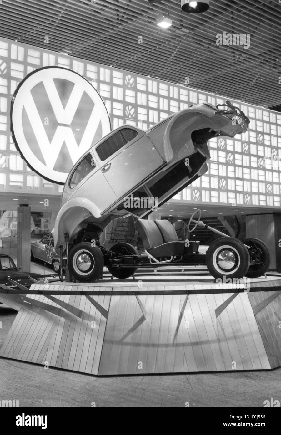 transport / transportation, cars, motor shows, Frankfurt Motor Show (IAA), VW Betle at the Volkswagen booth, hall - Stock Image