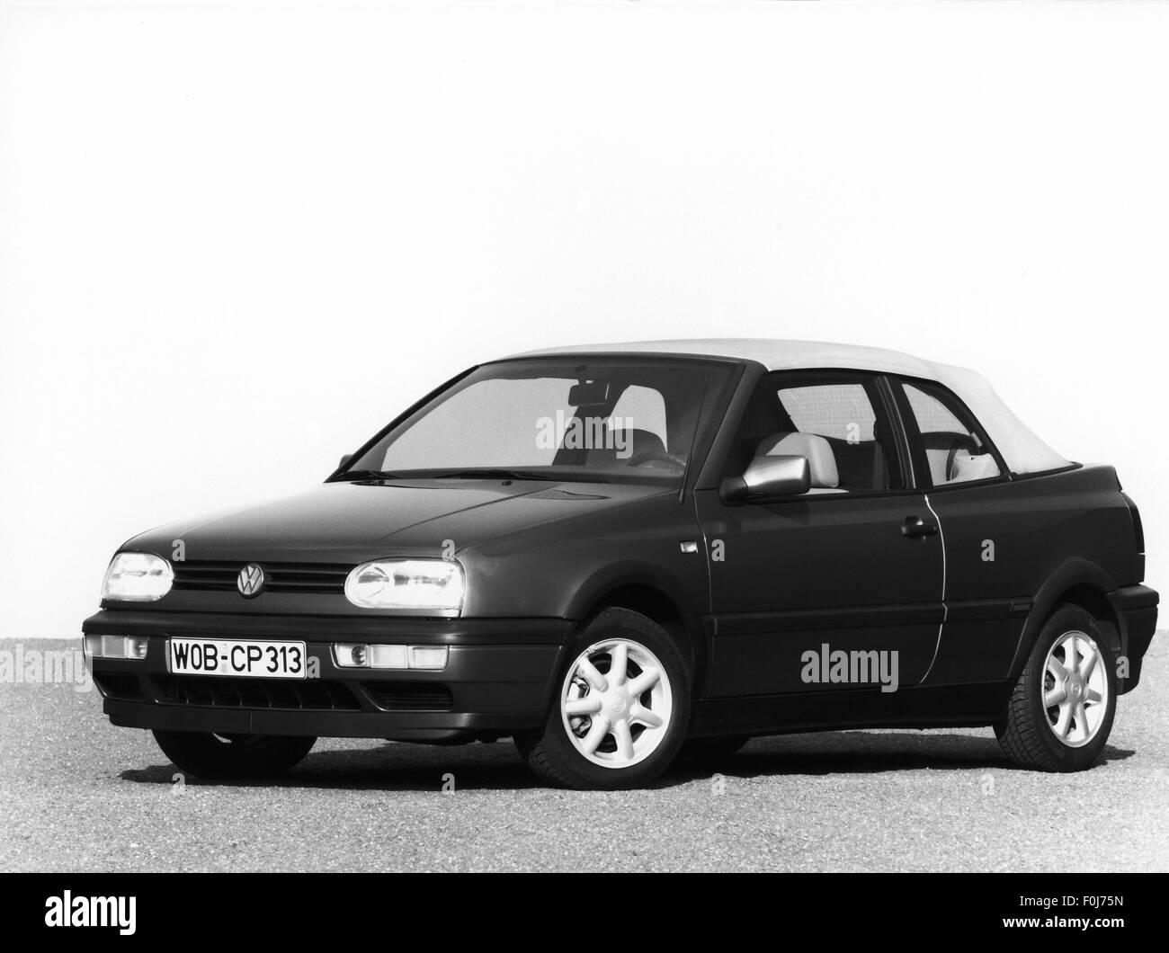 transport / transportation, car, vehicle variants, Volkswagen, VW Golf Mk3 convertible, 1990s, Additional-Rights - Stock Image